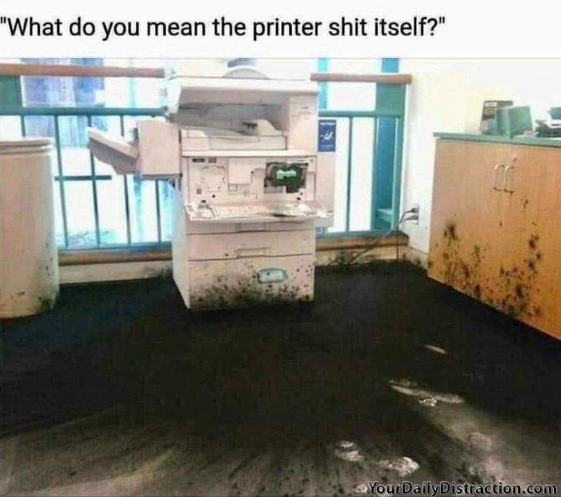 Printer Embarrassment